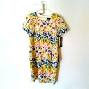 Positive Attitude floral design dress NWT